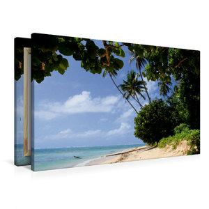 Premium Textil-Leinwand 90 cm x 60 cm quer Lavena auf Taveuni, F