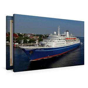 Premium Textil-Leinwand 90 cm x 60 cm quer Kreuzfahrtschiff MARC