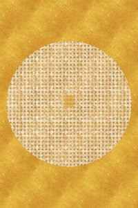 Premium Textil-Leinwand 80 cm x 120 cm hoch Goldenes Mandala