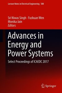 Advances in Energy and Power Systems