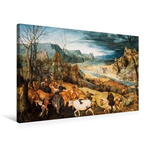 Premium Textil-Leinwand 75 cm x 50 cm quer Heimkehr der Herde (H