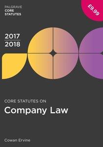 Core Statutes on Company Law 2017-18