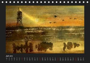 Leuchttürme bei Nacht (Tischkalender 2019 DIN A5 quer)