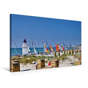 Premium Textil-Leinwand 75 cm x 50 cm quer Strandtag