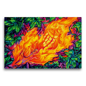 Premium Textil-Leinwand 75 cm x 50 cm quer Flammen des Lebens