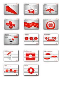1000 Folien - 3D PowerPoint Vorlagen - Farbe: spicy.red (2016)