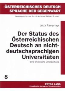 Der Status des Österreichischen Deutsch an nichtdeutschsprachige