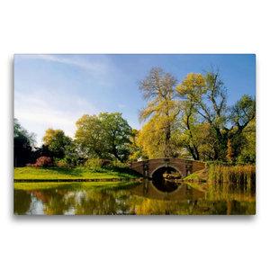 Premium Textil-Leinwand 75 cm x 50 cm quer Wolfsbrücke