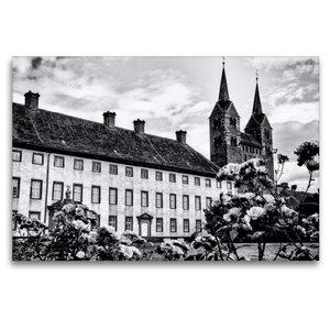 Premium Textil-Leinwand 120 cm x 80 cm quer Schloss und Kloster