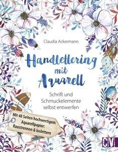 Handlettering mit Aquarell