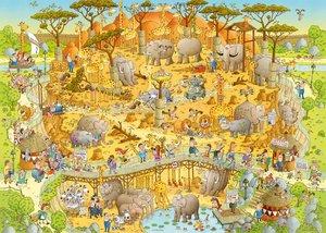 Standardpuzzle Degano Zoo African Habitat 1000 Teile