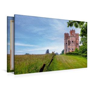 Premium Textil-Leinwand 120 cm x 80 cm quer Belvedere Turm von P