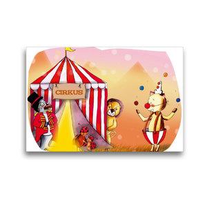 Premium Textil-Leinwand 45 cm x 30 cm quer Hurra, der Zirkus ist