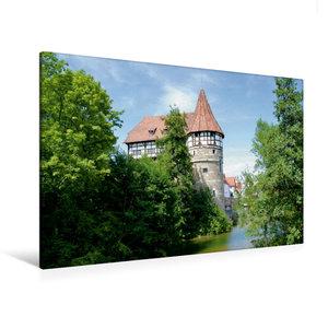 Premium Textil-Leinwand 120 cm x 80 cm quer Zollernschloss Balin
