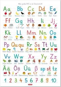 Fragenbär-Lernposter: Mein großes ABC in der Grundschrift (GS),