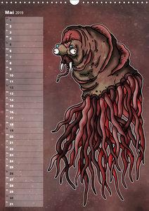 Bestiarium Vladi Krafft (Wandkalender 2019 DIN A3 hoch)