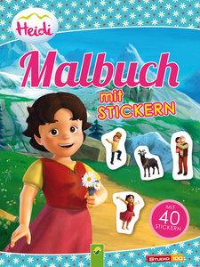 Heidi - Malbuch mit 40 Stickern