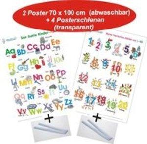 Das bunte Kinder-ABC + Meine tierischen Zahlen von 1-20 + Poster