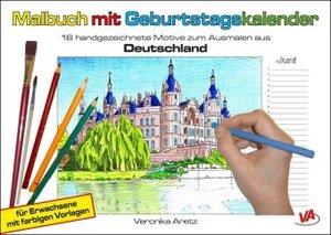 Malbuch mit Geburtstagskalender (Deutschland)
