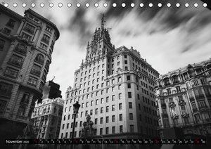 Madrid - Schwarz-Weiß Impressionen (Tischkalender 2020 DIN A5 qu