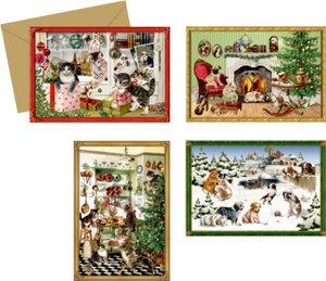 Mini-Adventskalender-Sortiment Tierische Weihnachten