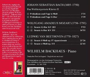 Präl.u.Fugen/Sonaten KV 283/331/Sonaten op.57/111