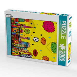Düsseldorf 2000 Teile Puzzle hoch