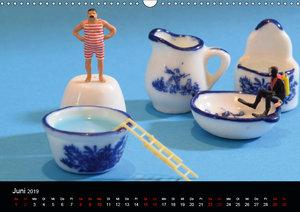 Miniansichten - Kleine Leute unterwegs (Wandkalender 2019 DIN A3