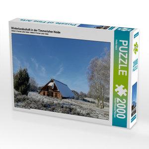 Winterlandschaft in der Timmerloher Heide 2000 Teile Puzzle quer