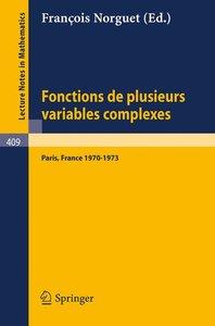 Fonctions de Plusieurs Variables Complexes