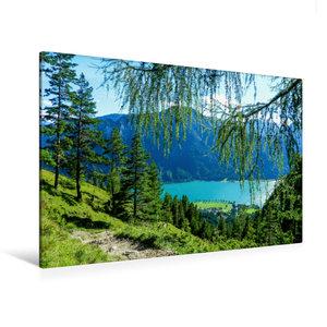 Premium Textil-Leinwand 120 cm x 80 cm quer Hinab zum Achensee,T