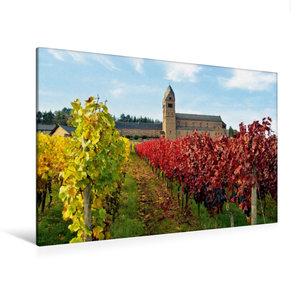 Premium Textil-Leinwand 120 cm x 80 cm quer Abtei St. Hildegard