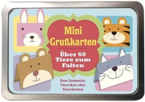 Boxset Mini Grußkarten -Über 60 Tiere zum Falten