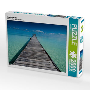 Holzsteg Kuba 2000 Teile Puzzle quer