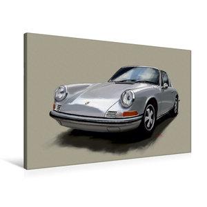 Premium Textil-Leinwand 90 cm x 60 cm quer Porsche 911 Targa