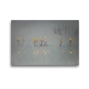 Premium Textil-Leinwand 45 cm x 30 cm quer Von güldenen Blätter