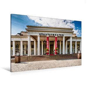 Premium Textil-Leinwand 120 cm x 80 cm quer Wiesbaden