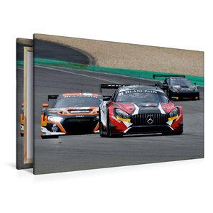 Premium Textil-Leinwand 120 cm x 80 cm quer Mercedes-AMG GT3 / A