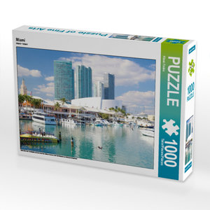 CALVENDO Puzzle Miami 1000 Teile Lege-Größe 64 x 48 cm Foto-Puzz