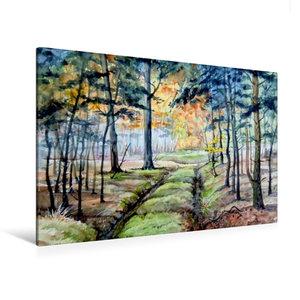 Premium Textil-Leinwand 120 cm x 80 cm quer Waldweg