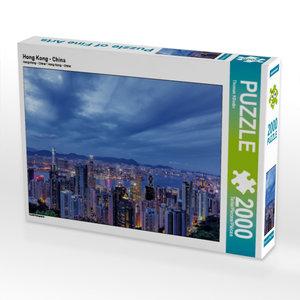 Hong Kong - China 2000 Teile Puzzle quer