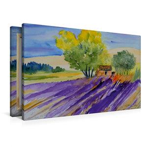 Premium Textil-Leinwand 90 cm x 60 cm quer Provence