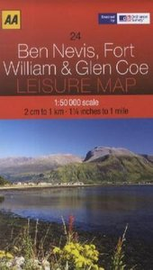 Leisure Map WK 24 Ben Nevis, William 1 : 50 000