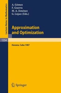 Approximation and Optimization