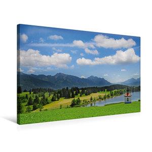 Premium Textil-Leinwand 75 cm x 50 cm quer Im Allgäu
