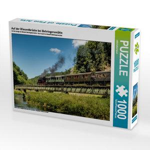 Auf der Wiesentbrücke bei Behringersmühle 1000 Teile Puzzle quer