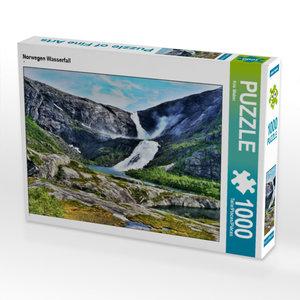 CALVENDO Puzzle Norwegen Wasserfall 1000 Teile Lege-Größe 64 x 4