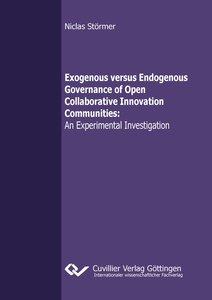 Exogenous versus Endogenous Governance of Open Collaborative Inn
