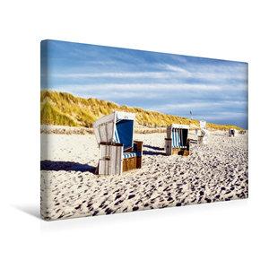 Premium Textil-Leinwand 45 cm x 30 cm quer Weststrand, Strandkör