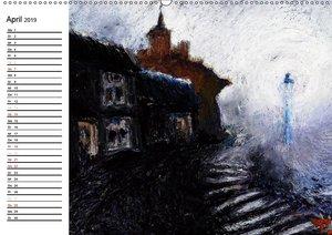 Schatten und Licht Buntstift und Öl von Topaze (Wandkalender 20